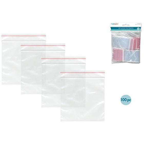 "Zip-Lock Polybags, 2""x3"", 100/pk"