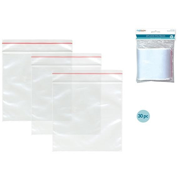 "Zip-Lock Polybags, 4""x6"", 30/pk"