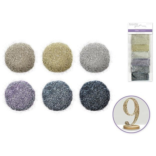 Superfine Glitters - Platinum, 6/pk
