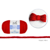 Acrylic Yarn Standard Ball Dyed - Really Red, 50g