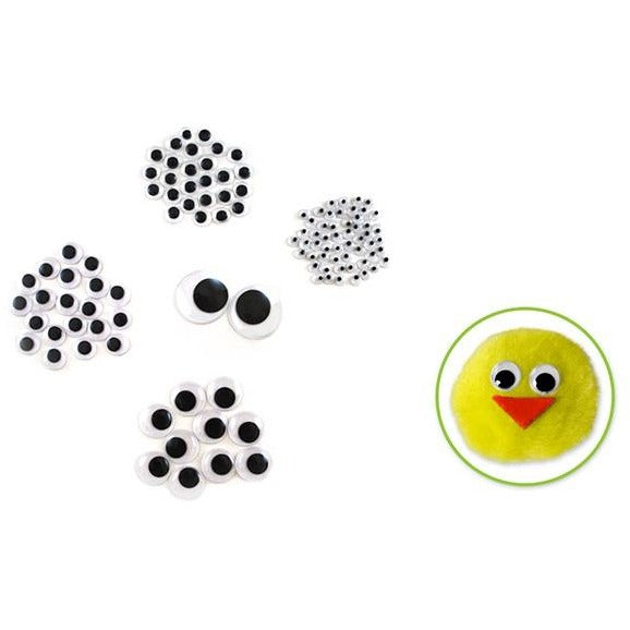 Googly Eyes Assorted 0.2in-1in Black, 112/pk