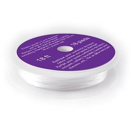 Jewelry Elastic Cord - Clear 18ft long