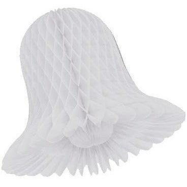 "White Honeycomb Bells 3"", 6/pk"