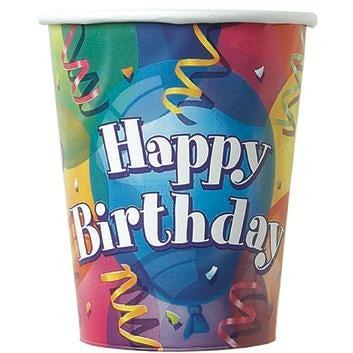 9oz Brilliant Balloons Paper Cups 8/pk