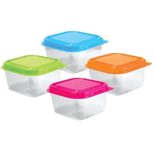 "Craft/Beads Containers with Lids 2.5""x1.5"", 4/pk"