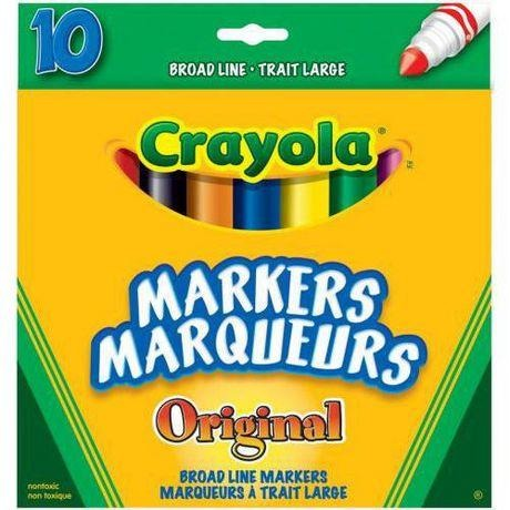 Broad Line Markers, 10/pk