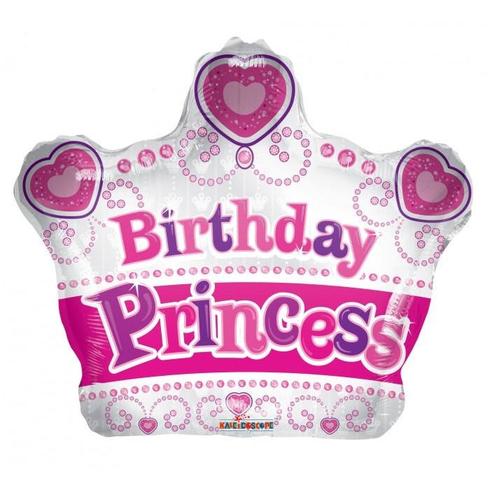 "18"" Birthday Princess Crown Shape"