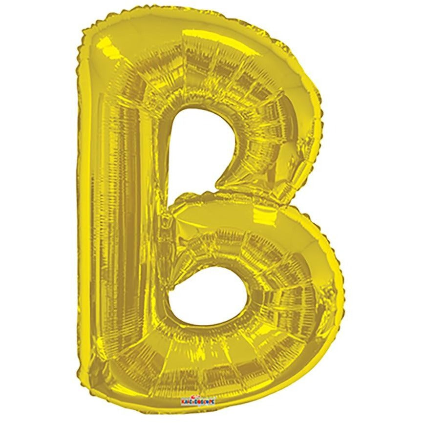 "34"" Gold Shape Letter B"