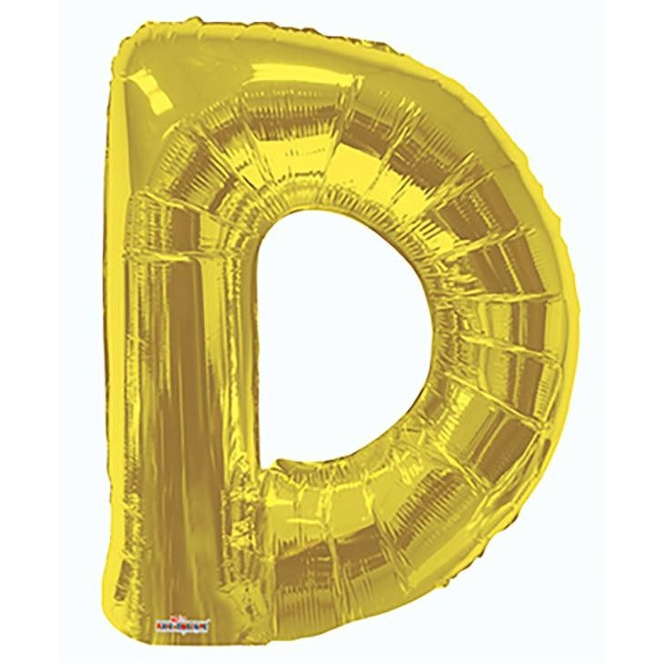 "34"" Gold Shape Letter D"