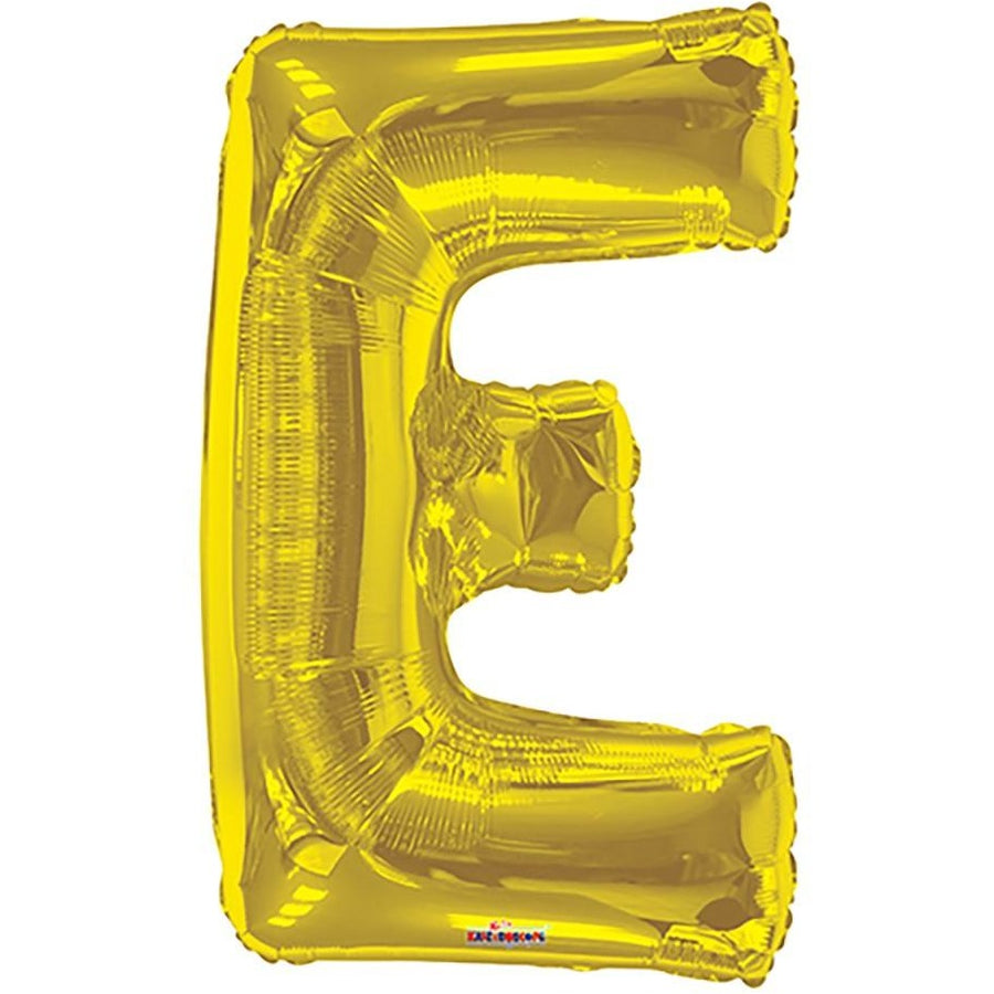 "34"" Gold Shape Letter E"