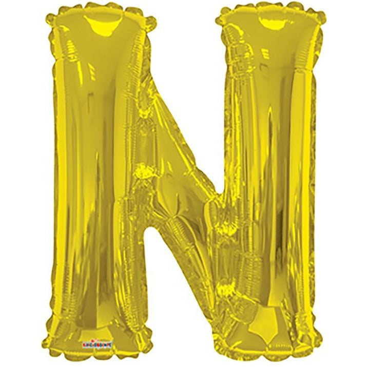 "34"" Gold Shape Letter N"