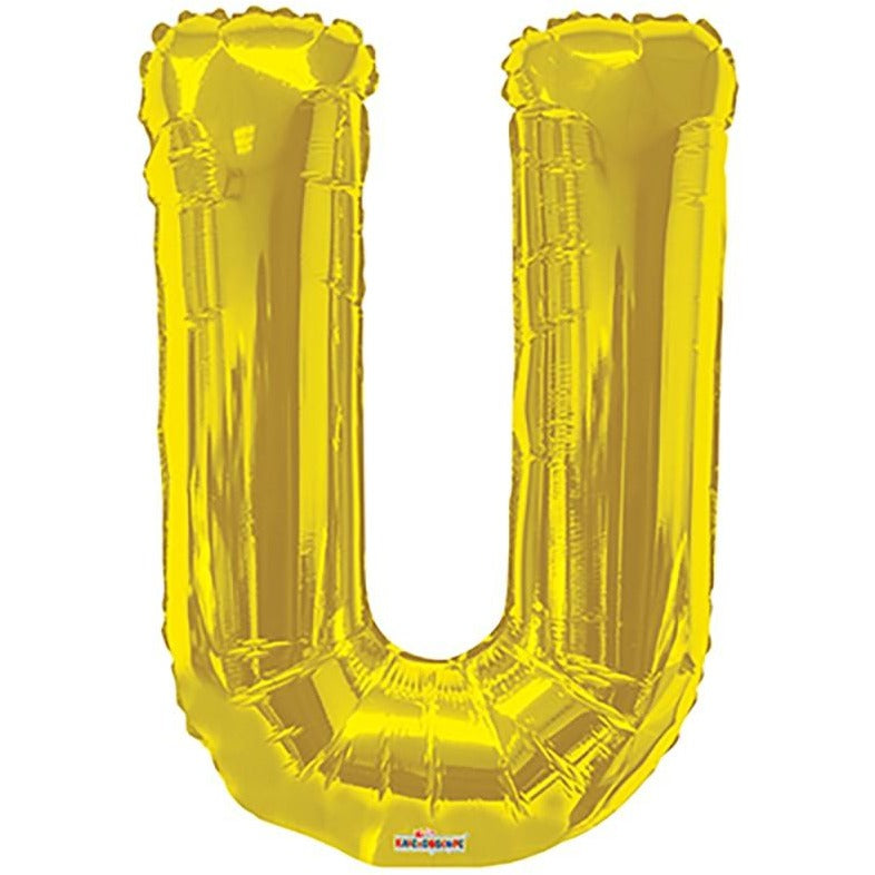 "34"" Gold Shape Letter U"