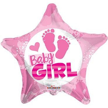 "18"" Baby Girl Footprints"