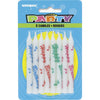 Happy Birthday Printed Candles 8/pk