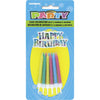 Happy Birthday Decoration with Birthday Candles 12/pk