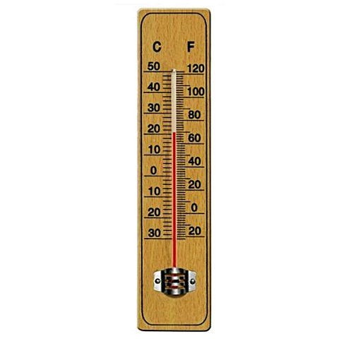 Wooden Room Thermometer