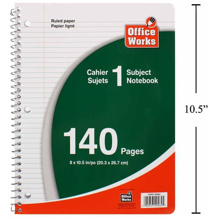 140 Pages Coil Notebooks