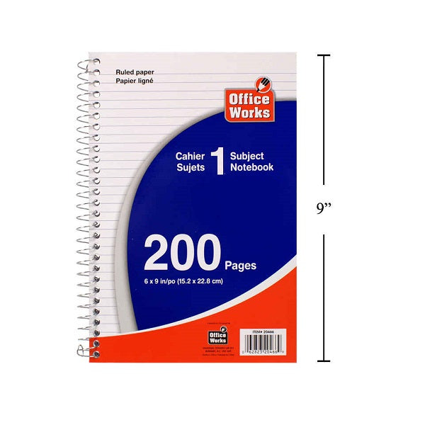 "200 Pages Coil Notebooks, 6""x9"""
