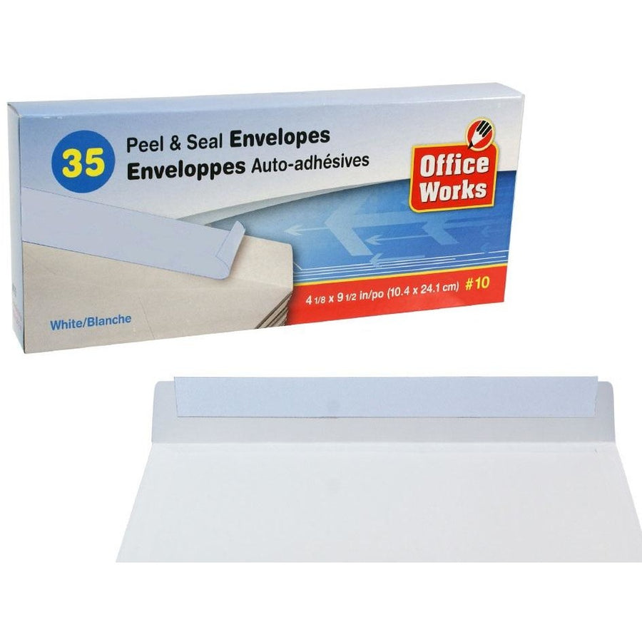 #10 Peel & Seal Envelopes, 35/pk