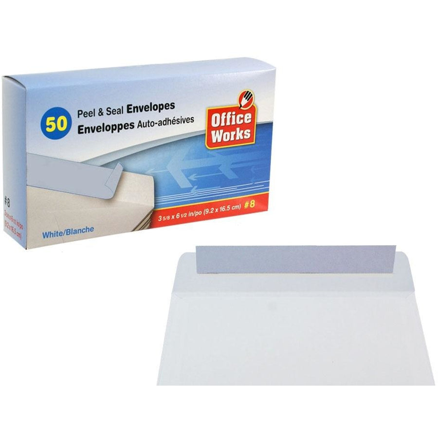 #8 Peel & Seal Envelopes, 50/pk