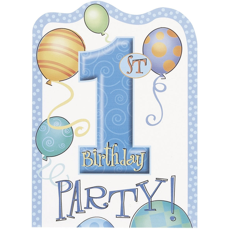 Invitations - 1st Birthday Boy, 8/pk