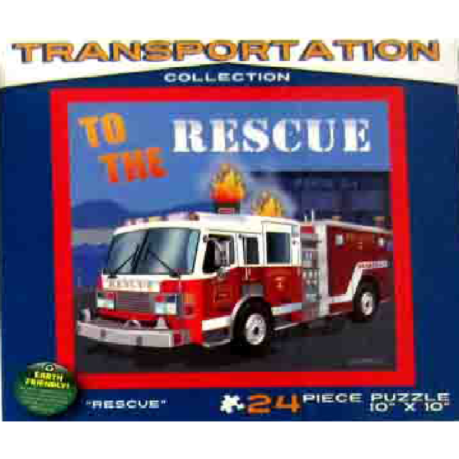Jigsaw Puzzle 24 Pieces - Fire Truck