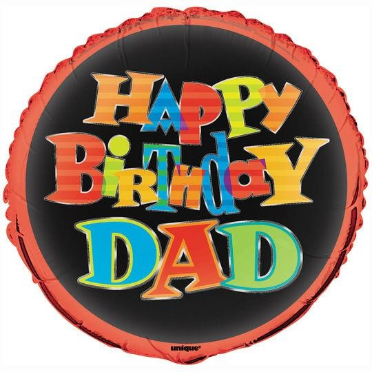 "18"" Happy Birthday Dad"