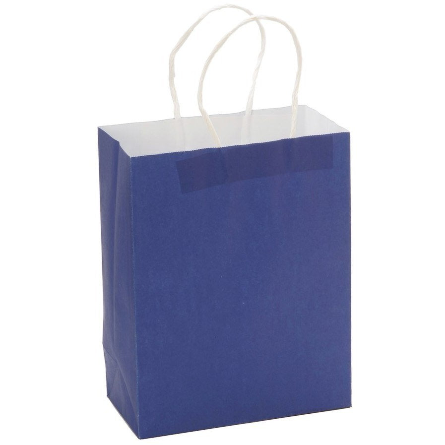 "Paper Favor Bags 8"" x 10"" - Royal Blue, 4/pack"
