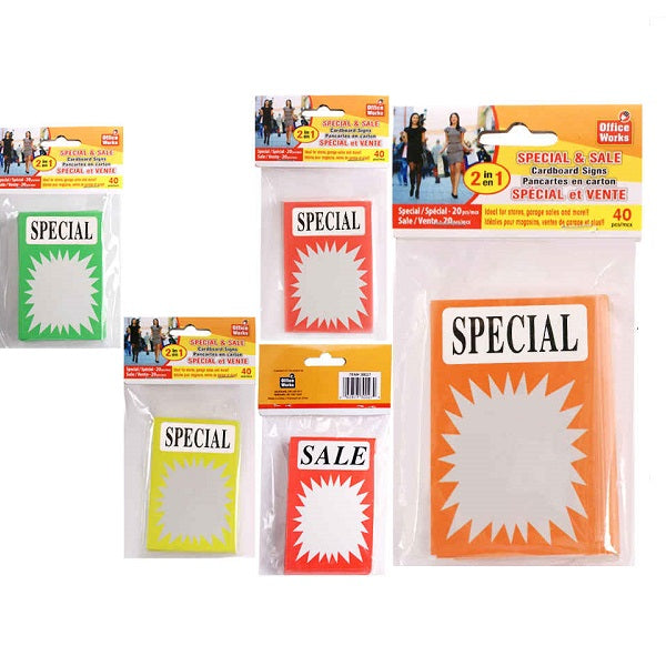 Special/Sale Sign, 40/PK