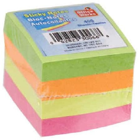 "400-sheet Sticky Notes, 1-5/8""x1-5/8"""