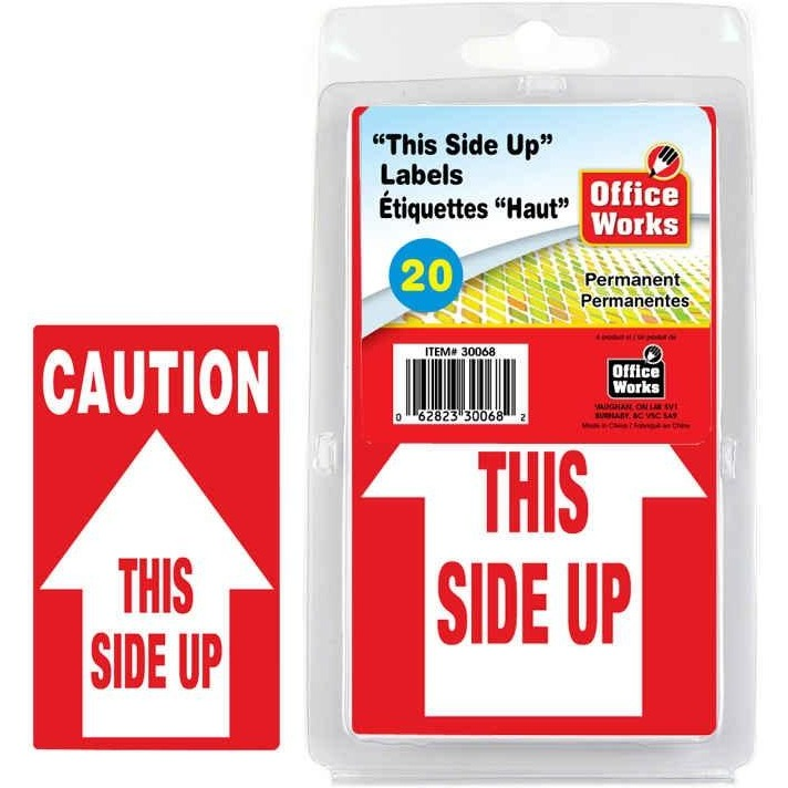 This Side Up Labels, 20/pk