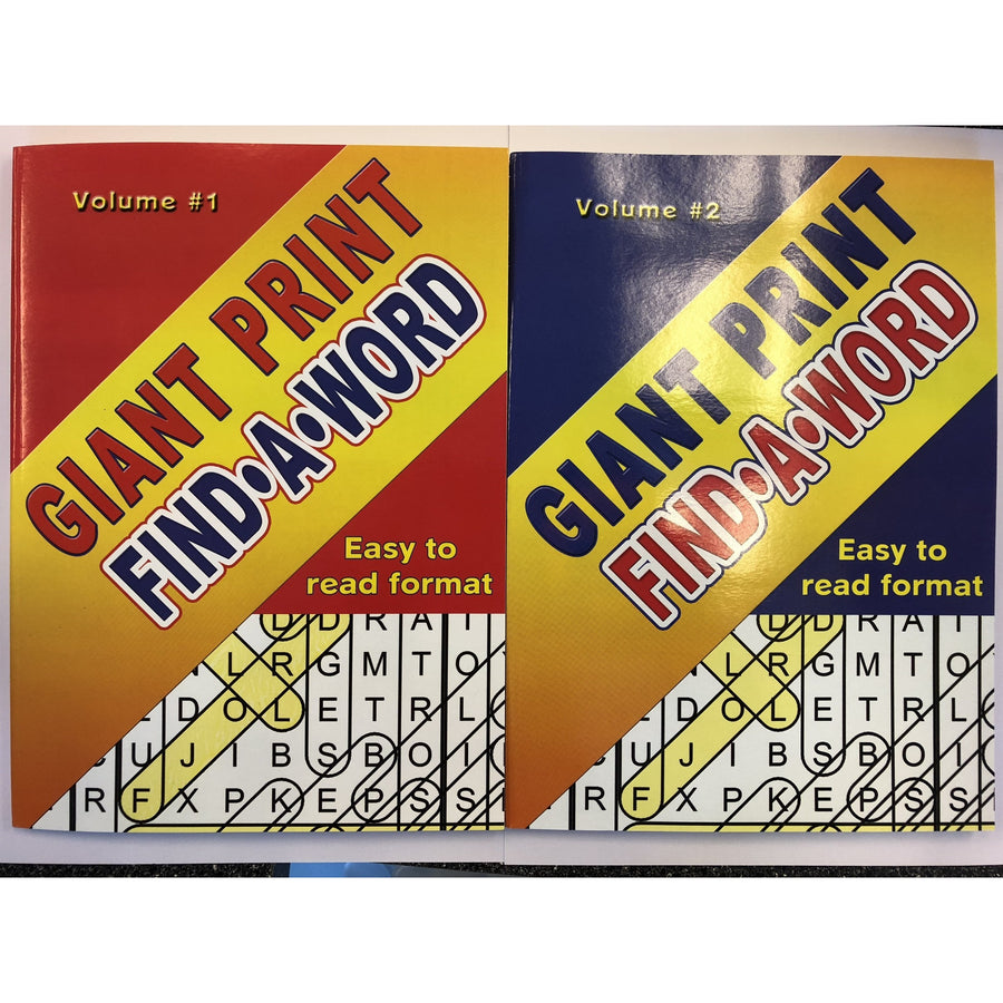 Giant Print Find A Word - 2 Assorted