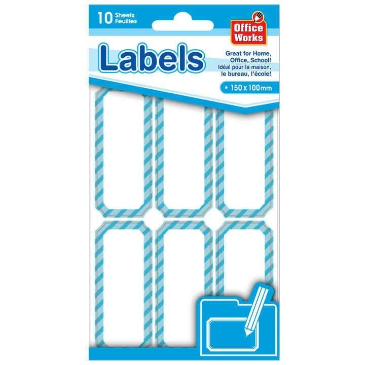 Self-Adhesive Multi-Purpose Rectangle Stickers