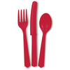 Red Assorted Plastic Cutlery 18/pk