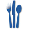 Royal Blue Assorted Plastic Cutlery 18/pk