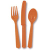 Orange Assorted Plastic Cutlery 18/pk