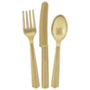 Gold Assorted Plastic Cutlery 18/pk