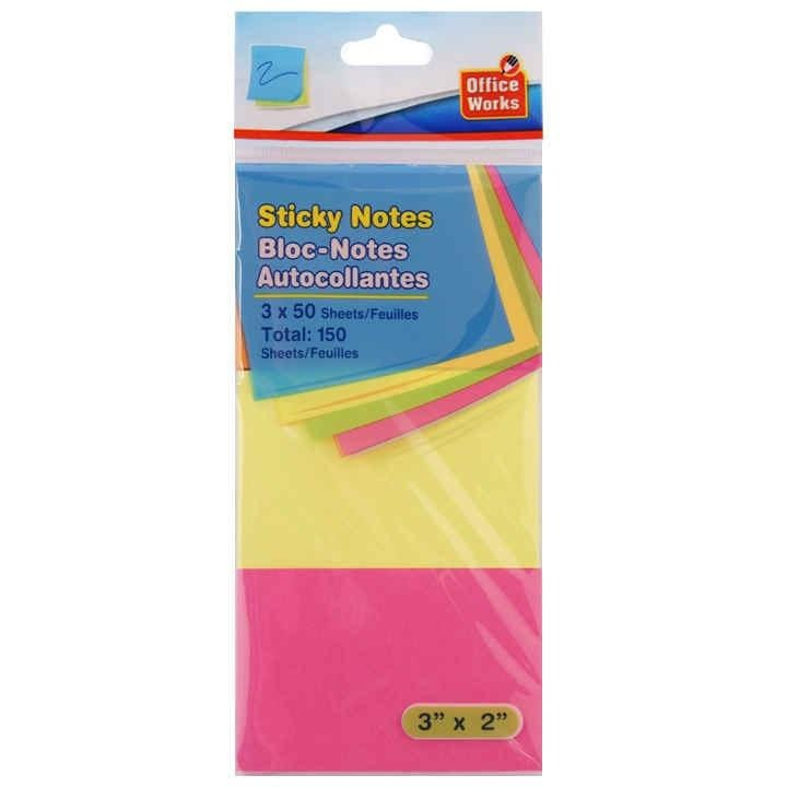 "150-sheet Sticky Notes, 3"" x 2"""