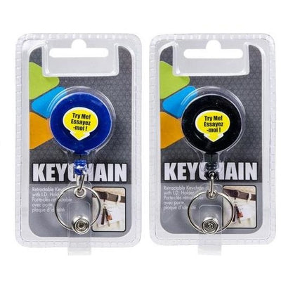 Retractable Key Chain with I.D. Holder