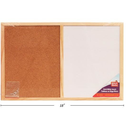 Wooden Frame Cork/White Board