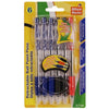 Retractable Ball Point Pens, 6/pk
