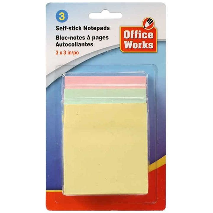 "150-sheet Self-stick Notepads, 3""x3"""