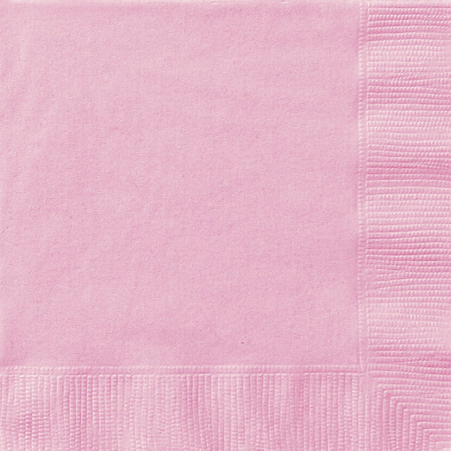 "10"" x 10"" Lovely Pink Napkins 20/pk"