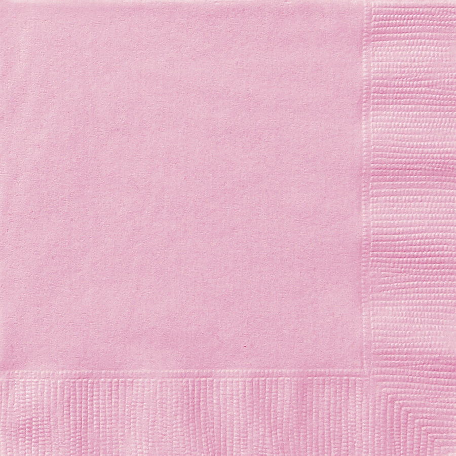 "13"" x 13"" Lovely Pink Napkins 20/pk"