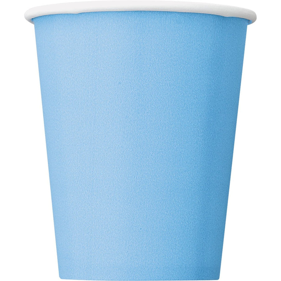 9oz Powder Blue Paper Cups 8/pk