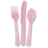 Lovely Pink Assorted Plastic Cutlery 18/pk
