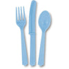 Powder Blue Assorted Plastic Cutlery 18/pk