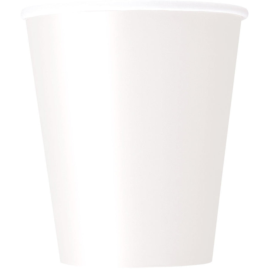 9oz White Paper Cups 8/pk