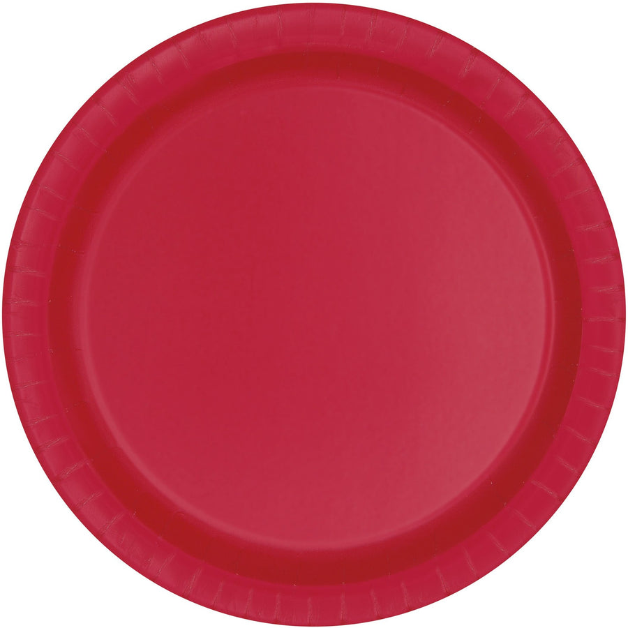 "7"" Red Paper Plates 8/pk"