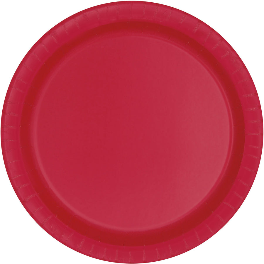 "9"" Red Paper Plates 8/pk"